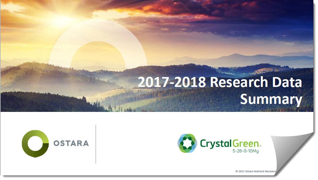 Ostara Crystal Green 2017-18 Research Data Summary